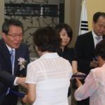 김원보 회장과 김소영 학생의 모