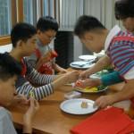 어린이들의 요리활동 모습
